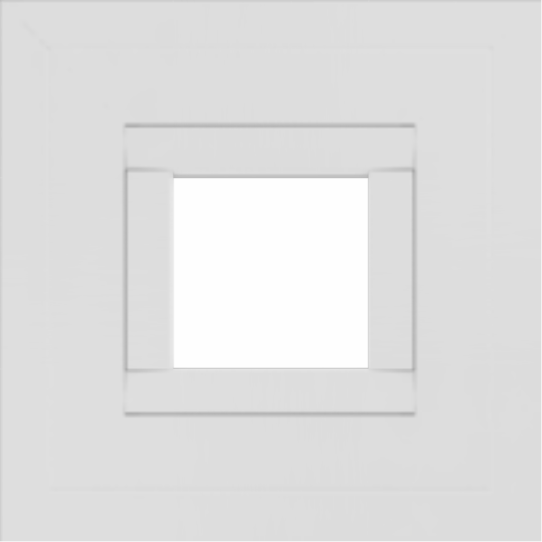 WDMA 12x12 (11.5 x 11.5 inch) Vinyl uPVC White Picture Window without Grids-2