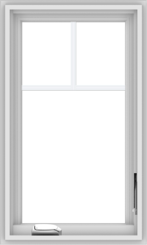 WDMA 18x30 (17.5 x 29.5 inch) White Vinyl uPVC Crank out Casement Window with Fractional Grilles
