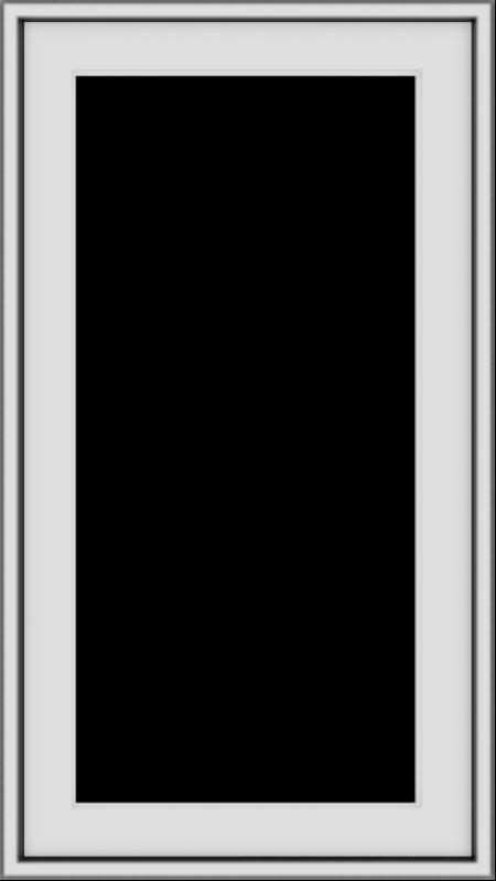 WDMA 18x32 (17.5 x 31.5 inch) Vinyl uPVC White Push out Casement Window without Grids Exterior
