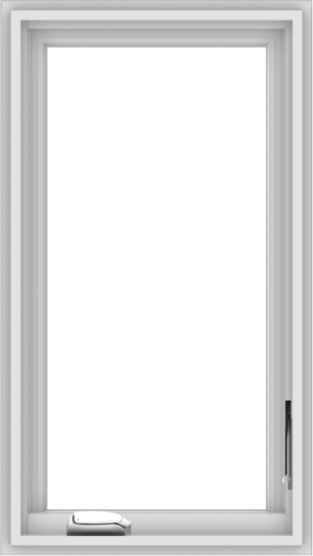 WDMA 18x32 (17.5 x 31.5 inch) White Vinyl uPVC Crank out Casement Window without Grids Interior