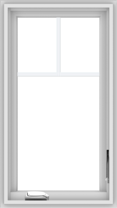 WDMA 18x32 (17.5 x 31.5 inch) White Vinyl uPVC Crank out Casement Window with Fractional Grilles
