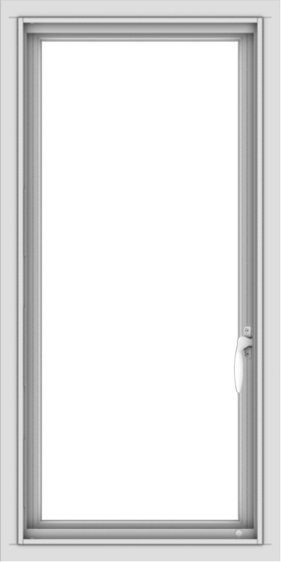 WDMA 18x36 (17.5 x 35.5 inch) Vinyl uPVC White Push out Casement Window without Grids Interior
