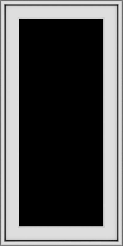 WDMA 18x36 (17.5 x 35.5 inch) Vinyl uPVC White Push out Casement Window without Grids Exterior