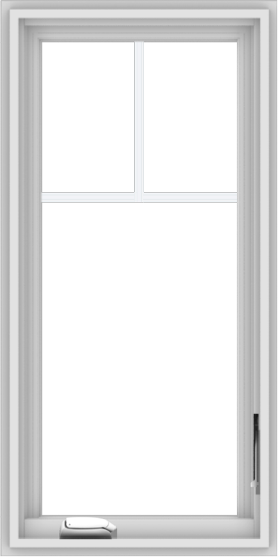 WDMA 18x36 (17.5 x 35.5 inch) White Vinyl uPVC Crank out Casement Window with Fractional Grilles