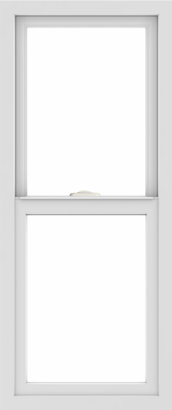 WDMA 18x42 (17.5 x 41.5 inch) Vinyl uPVC White Single Hung Double Hung Window without Grids Interior