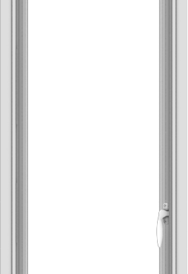 WDMA 18x54 (17.5 x 53.5 inch) uPVC Vinyl White push out Casement Window without Grids Interior