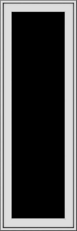 WDMA 18x54 (17.5 x 53.5 inch) uPVC Vinyl White push out Casement Window without Grids Exterior