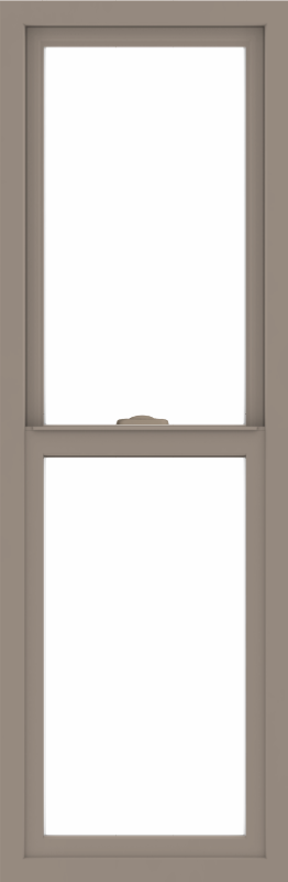 WDMA 18x54 (17.5 x 53.5 inch) Vinyl uPVC Brown Single Hung Double Hung Window without Grids Interior