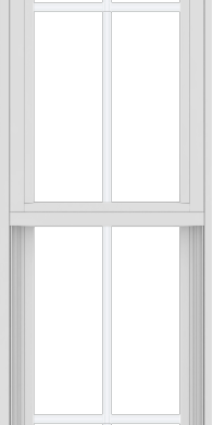 WDMA 18x72 (17.5 x 71.5 inch) Vinyl uPVC White Single Hung Double Hung Window with Colonial Grids Exterior