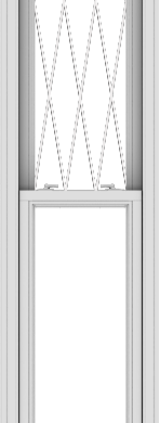 WDMA 20x108 (19.5 x 107.5 inch)  Aluminum Single Double Hung Window with Diamond Grids