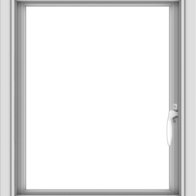 WDMA 20x24 (19.5 x 23.5 inch) Vinyl uPVC White Push out Casement Window without Grids Interior