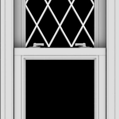 WDMA 20x40 (19.5 x 39.5 inch)  Aluminum Single Double Hung Window with Diamond Grids