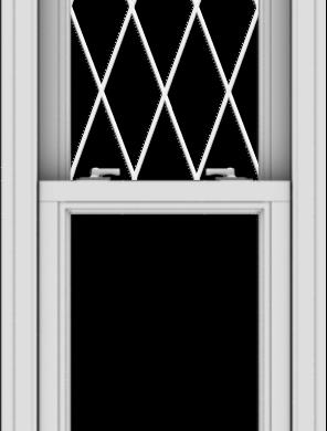 WDMA 20x54 (19.5 x 53.5 inch)  Aluminum Single Double Hung Window with Diamond Grids