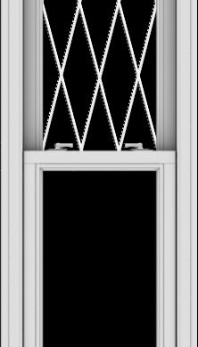 WDMA 20x72 (19.5 x 71.5 inch)  Aluminum Single Double Hung Window with Diamond Grids