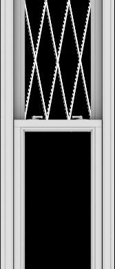 WDMA 20x96 (19.5 x 95.5 inch)  Aluminum Single Double Hung Window with Diamond Grids