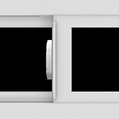 WDMA 24x12 (23.5 x 11.5 inch) Vinyl uPVC White Slide Window without Grids Interior