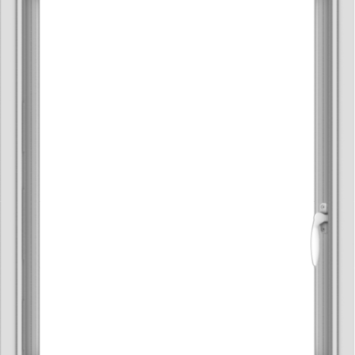 WDMA 24x30 (23.5 x 29.5 inch) Vinyl uPVC White Push out Casement Window without Grids Interior