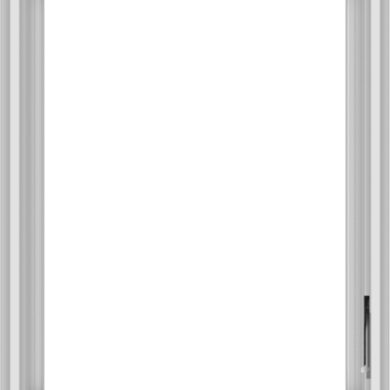 WDMA 24x30 (23.5 x 29.5 inch) White Vinyl uPVC Crank out Casement Window without Grids Interior