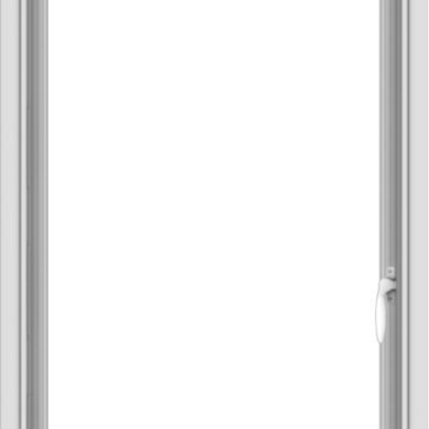 WDMA 24x36 (23.5 x 35.5 inch) Vinyl uPVC White Push out Casement Window without Grids Interior