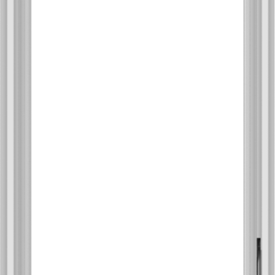 WDMA 24x36 (23.5 x 35.5 inch) White Vinyl uPVC Crank out Casement Window without Grids Interior