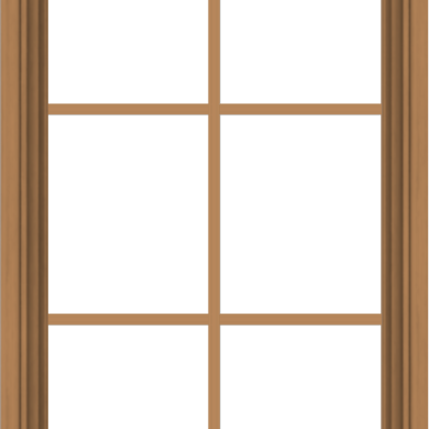 WDMA 24x40 (23.5 x 39.5 inch) Oak Wood Green Aluminum Push out Awning Window with Colonial Grids Interior