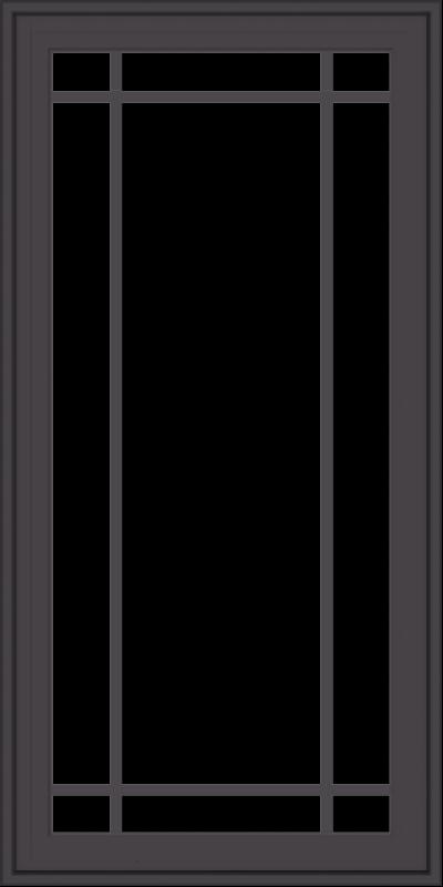 WDMA 24x48 (23.5 x 47.5 inch) Pine Wood Dark Grey Aluminum Crank out Casement Window with Prairie Grilles