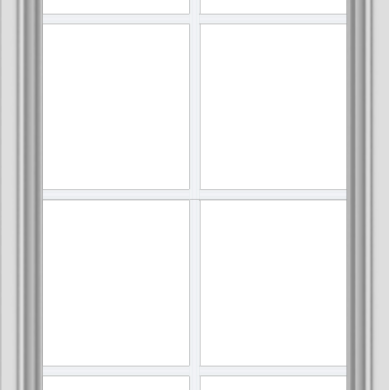 WDMA 24x48 (23.5 x 47.5 inch) White uPVC Vinyl Push out Awning Window with Colonial Grids Interior