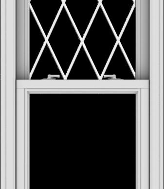 WDMA 24x57 (23.5 x 56.5 inch)  Aluminum Single Double Hung Window with Diamond Grids