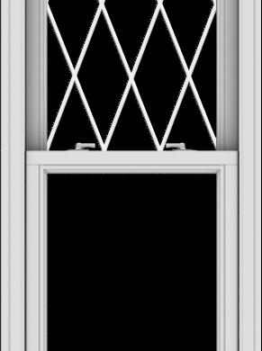 WDMA 24x66 (23.5 x 65.5 inch)  Aluminum Single Double Hung Window with Diamond Grids
