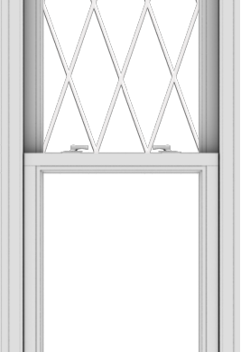 WDMA 24x72 (23.5 x 71.5 inch)  Aluminum Single Double Hung Window with Diamond Grids