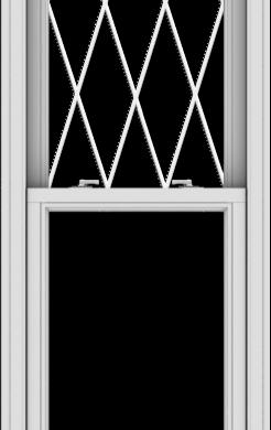 WDMA 24x78 (23.5 x 77.5 inch)  Aluminum Single Double Hung Window with Diamond Grids