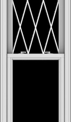 WDMA 24x84 (23.5 x 83.5 inch)  Aluminum Single Double Hung Window with Diamond Grids