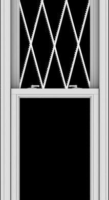 WDMA 24x90 (23.5 x 89.5 inch)  Aluminum Single Double Hung Window with Diamond Grids