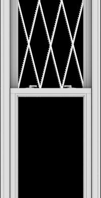 WDMA 24x96 (23.5 x 95.5 inch)  Aluminum Single Double Hung Window with Diamond Grids