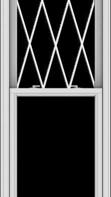 WDMA 28x102 (27.5 x 101.5 inch)  Aluminum Single Double Hung Window with Diamond Grids