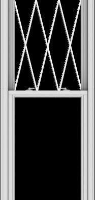 WDMA 28x120 (27.5 x 119.5 inch)  Aluminum Single Double Hung Window with Diamond Grids