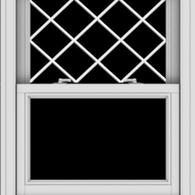 WDMA 28x36 (27.5 x 35.5 inch)  Aluminum Single Double Hung Window with Diamond Grids