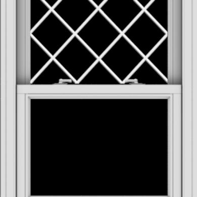 WDMA 28x40 (27.5 x 39.5 inch)  Aluminum Single Double Hung Window with Diamond Grids