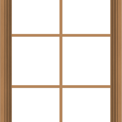 WDMA 28x40 (27.5 x 39.5 inch) Oak Wood Green Aluminum Push out Awning Window with Colonial Grids Interior