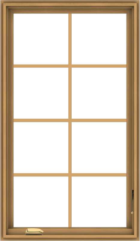 WDMA 28x48 (27.5 x 47.5 inch) Pine Wood Dark Grey Aluminum Crank out Casement Window with Colonial Grids