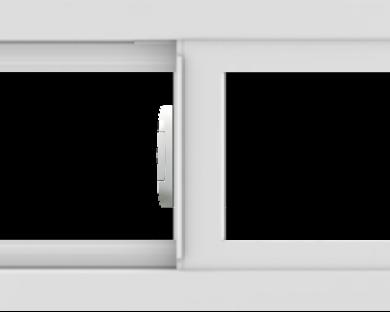 WDMA 30x12 (29.5 x 11.5 inch) Vinyl uPVC White Slide Window without Grids Interior