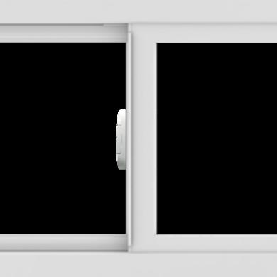 WDMA 30x18 (29.5 x 17.5 inch) Vinyl uPVC White Slide Window without Grids Interior