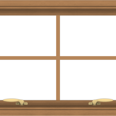 WDMA 30x20 (29.5 x 19.5 inch) Oak Wood Green Aluminum Push out Awning Window with Colonial Grids Interior