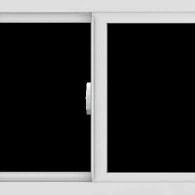 WDMA 30x24 (29.5 x 23.5 inch) Vinyl uPVC White Slide Window without Grids Interior