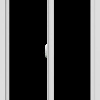 WDMA 30x42 (29.5 x 41.5 inch) Vinyl uPVC White Slide Window without Grids Interior