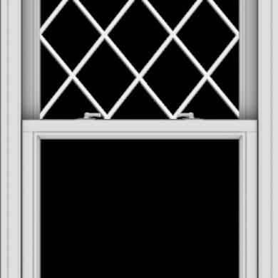 WDMA 30x48 (29.5 x 47.5 inch)  Aluminum Single Double Hung Window with Diamond Grids