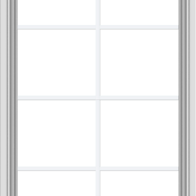 WDMA 30x48 (29.5 x 47.5 inch) White uPVC Vinyl Push out Awning Window with Colonial Grids Interior
