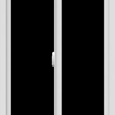 WDMA 30x60 (29.5 x 59.5 inch) Vinyl uPVC White Slide Window without Grids Interior