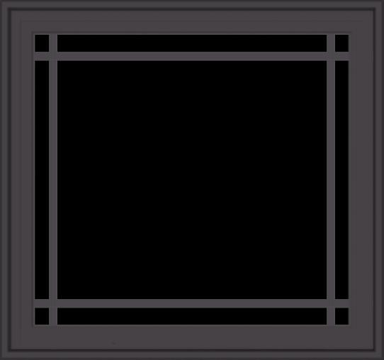 WDMA 32x30 (31.5 x 29.5 inch) Pine Wood Dark Grey Aluminum Crank out Casement Window with Prairie Grilles