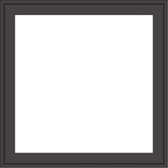 WDMA 32x32 (31.5 x 31.5 inch) Pine Wood Dark Grey Aluminum Crank out Casement Window with Colonial Grids Exterior